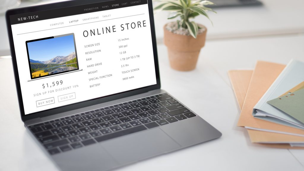Online Store Shopping Internet Website Concept