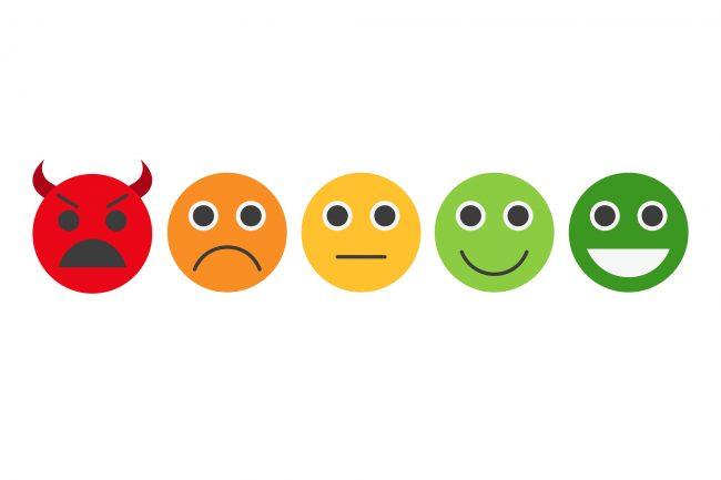 Feedback in form of emotions, smileys, emoji.