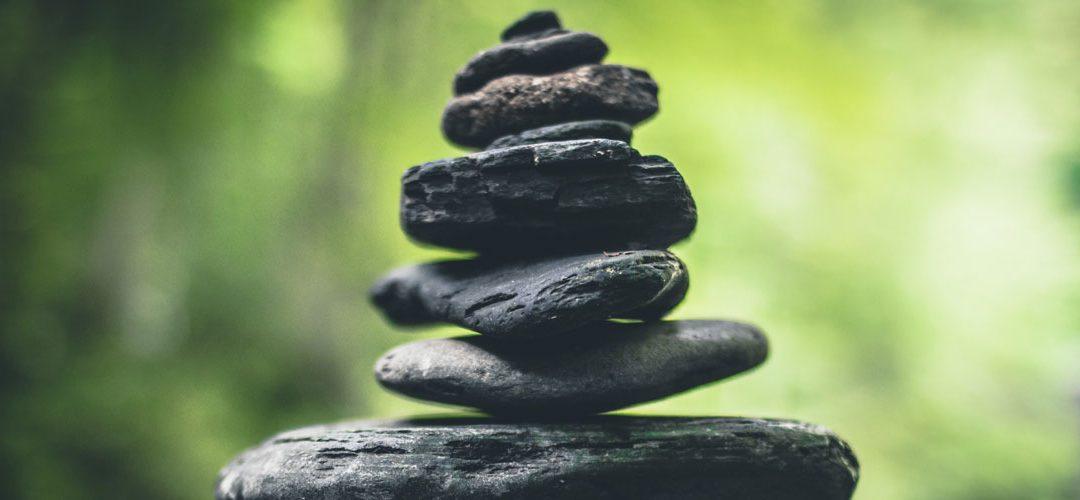 Pencil and Coffee Zen Stones