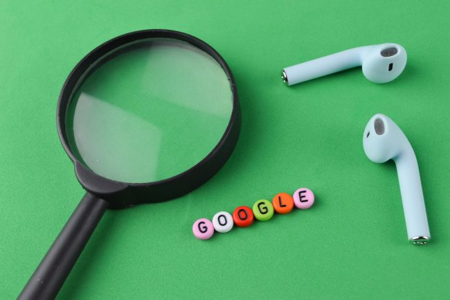 pencil-and-coffee-magnifying-glass-earphones-and-alphabet-beads-with-text-google